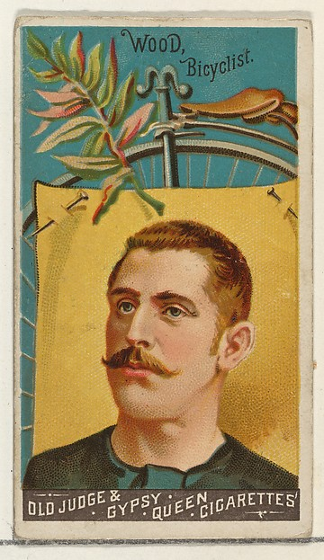 Wood, Bicyclist, from the Goodwin Champion series for Old Judge and Gypsy Queen Cigarettes
