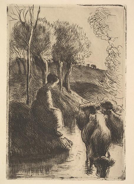 Cowherd, at Water's Edge