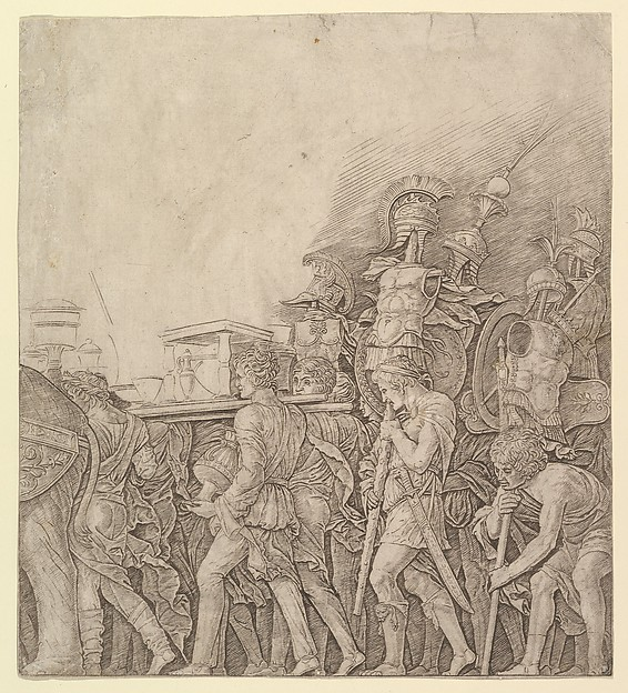 Triumph of Caesar: Soldiers carrying Trophies
