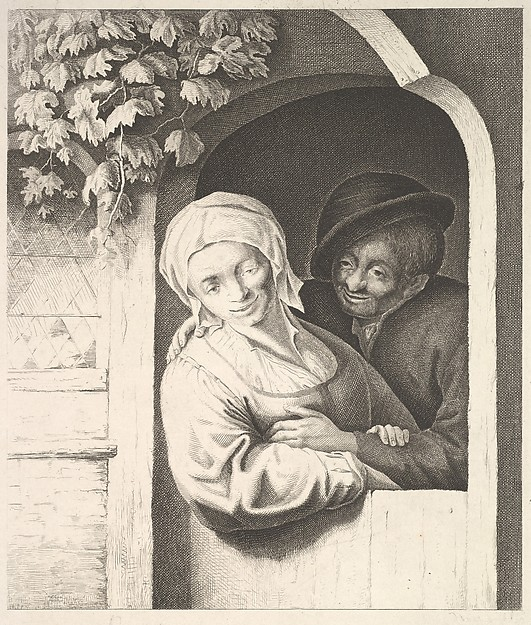 Fascinating Historical Picture of Adriaen van Ostade with Village Girl in 1610