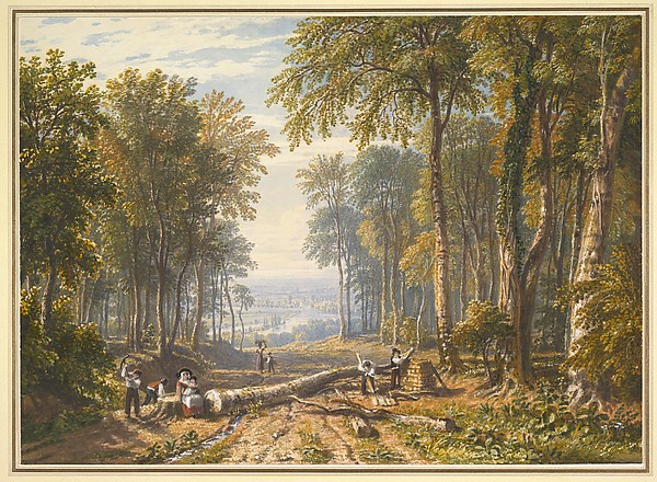 Woodcutters at Park Place, Henley, the River Thames Beyond