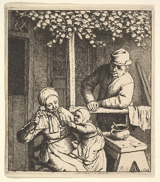 This is What Adriaen van Ostade and The Doll Looked Like  in 1610