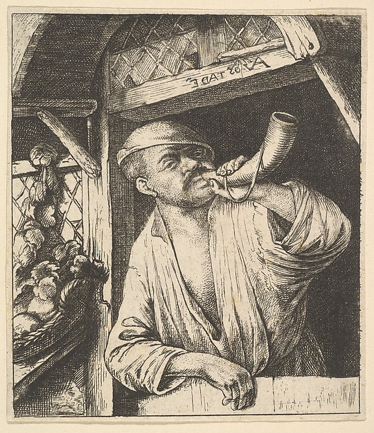 This is What Adriaen van Ostade and Baker Blowing Horn Looked Like  in 1610