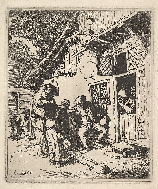 Fascinating Historical Picture of Adriaen van Ostade with Traveling Musicians in 1610