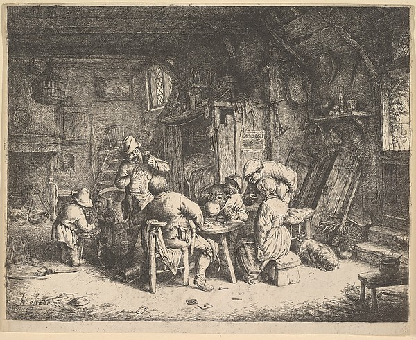 Fascinating Historical Picture of Adriaen van Ostade with The Taste in 1610