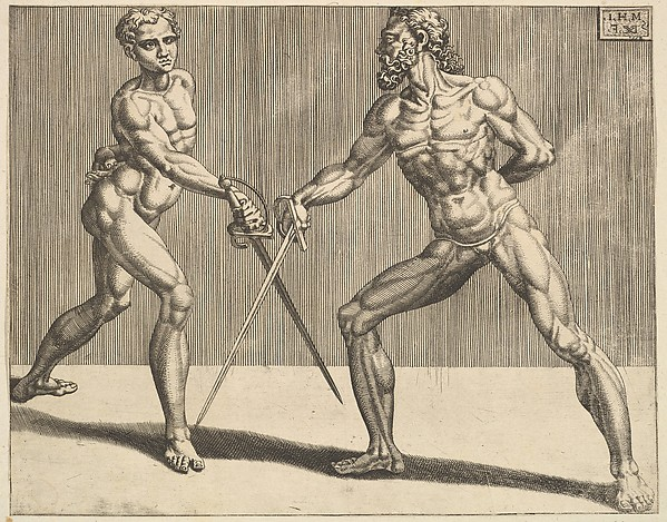 Two Fencers, from Fencers, plate 5