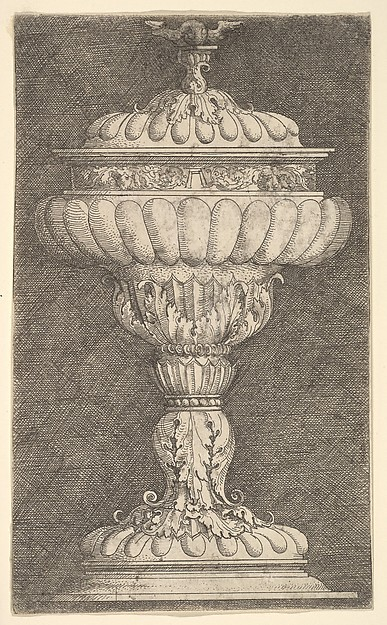 Covered Goblet with a Winged Ball on Top