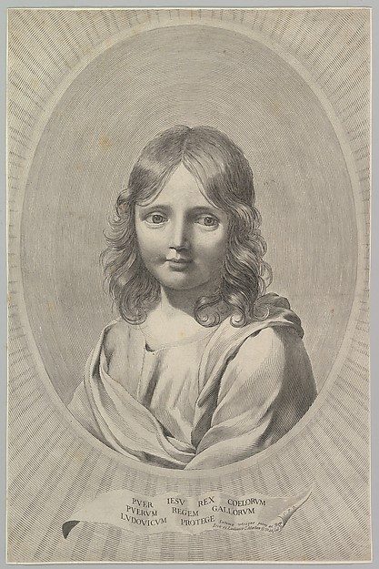 Bust of Jesus as a Child in an Oval