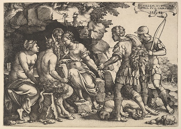 Fascinating Historical Picture of Georg Pencz with Thetis and Chiron in 1543