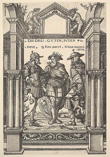 The Three Jewish Heroes (Die Drei Guten Juden), from Heroes and Heroines