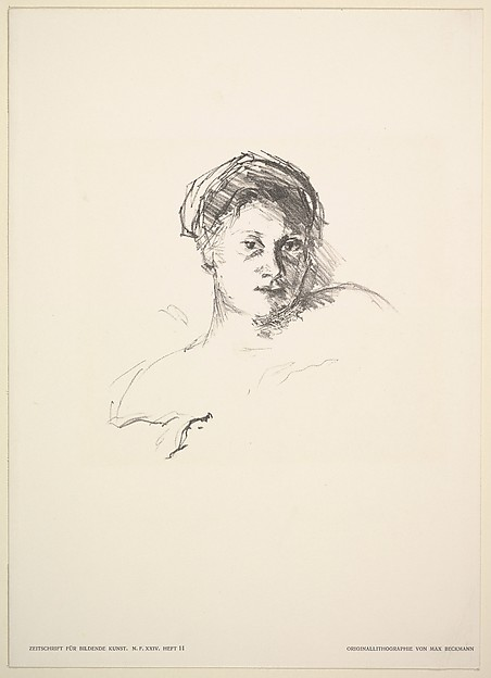 Portrait of Minna Beckmann