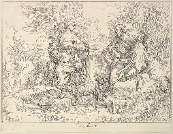 Christ appearing to Mary Magdalen(?)