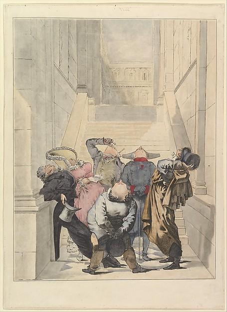 Visitors to the Salon Exhibition, Admiring the Ceiling (Les Amateurs de plafonds au Salon)