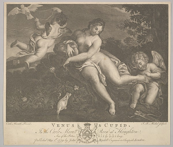 Fascinating Historical Picture of Jean-Baptiste Michel with Venus and Cupid on 5/1/1779