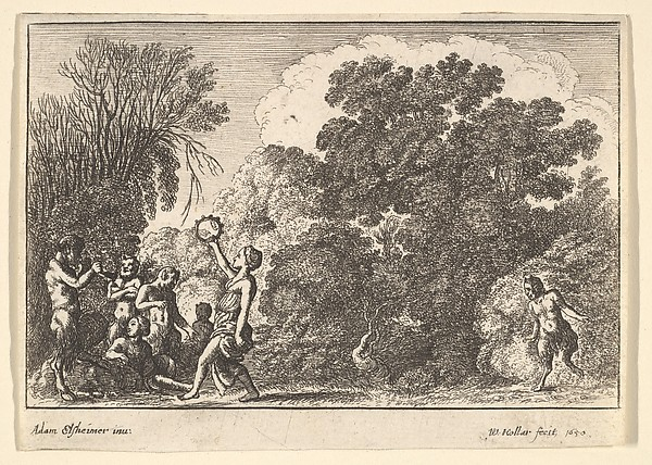 Five Satyrs and Two Nymphs