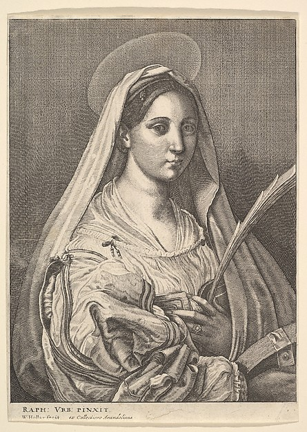 Fascinating Historical Picture of Raphael with St. Catherine of Alexandria in 1644