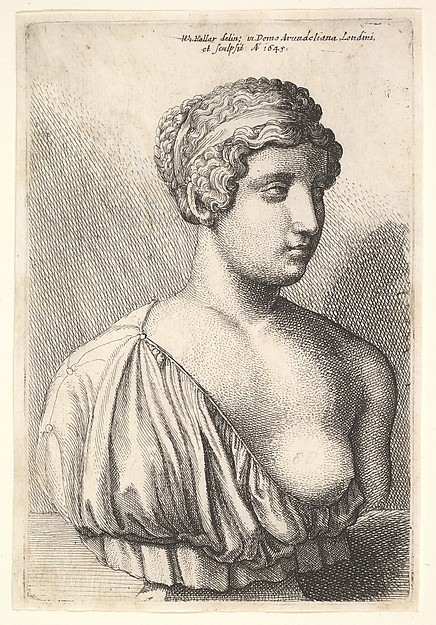 Antique bust of a woman