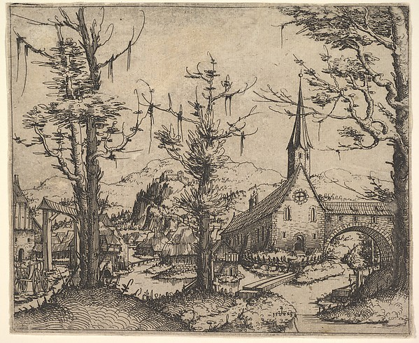 Landscape with Small Church and Arch over Stream