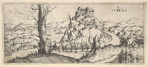 Landscape with High Rocks and Fortresses