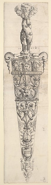 (Design for a Dagger and Sheath)