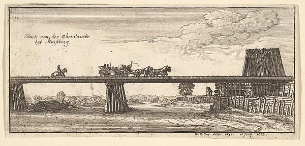 Stuck von der Rheinbrucke beÿ Strasburg (View of Bridge over the Rhine, Strasburg)