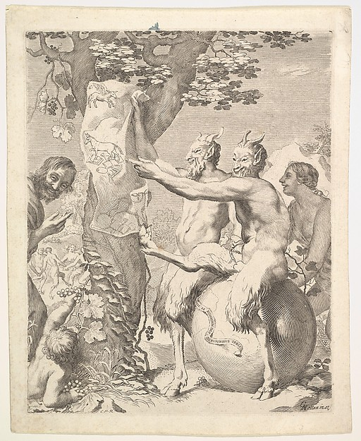 Two Satyrs on a World Globe