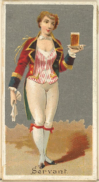 Servant, from the Occupations for Women series (N166) for Old Judge and Dogs Head Cigarettes