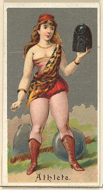 Athlete, from the Occupations for Women series (N166) for Old Judge and Dogs Head Cigarettes