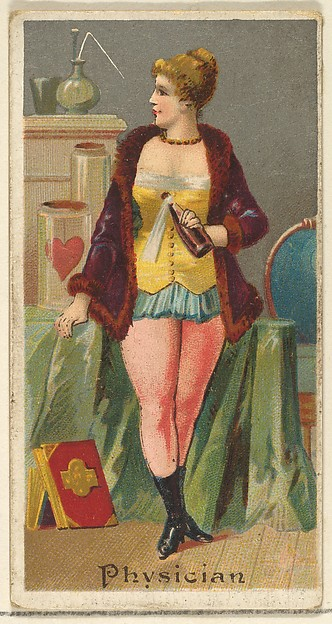 Physician, from the Occupations for Women series (N166) for Old Judge and Dogs Head Cigarettes