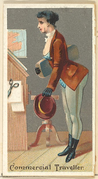 Commercial Traveller, from the Occupations for Women series (N166) for Old Judge and Dogs Head Cigarettes
