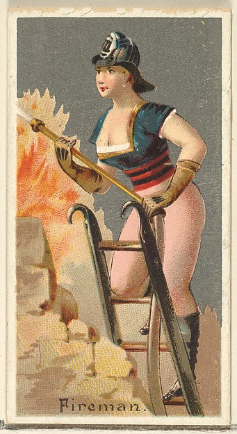 Fireman, from the Occupations for Women series (N166) for Old Judge and Dogs Head Cigarettes