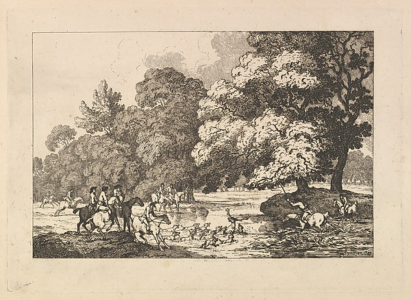 Deer Hunting – A Landscape Scene (from Imitations of Modern Drawings)