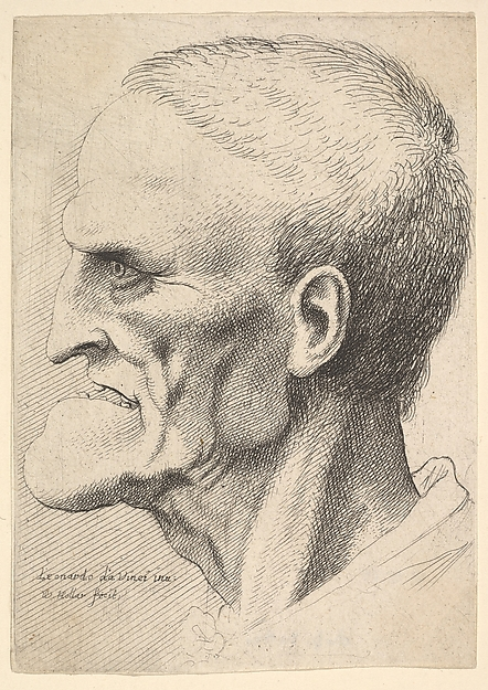 Head of Old Man with Prominent Chin