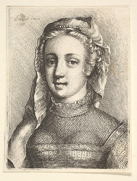 Woman with Diaphanous Neckware