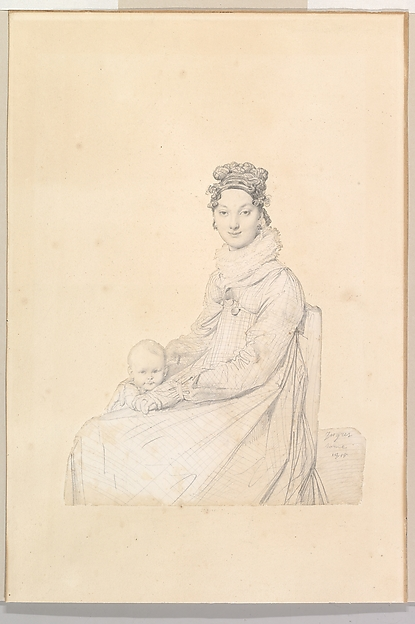Madame Alexandre Lethière, née Rosa Meli, and Her Daughter, Letizia
