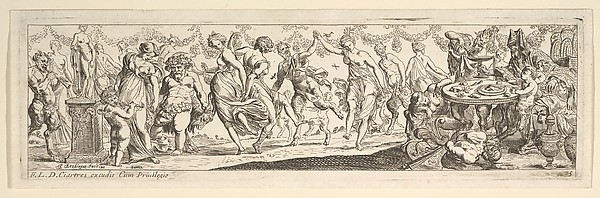 Fascinating Historical Picture of Pierre Brebiette with Bacchanal in 1615