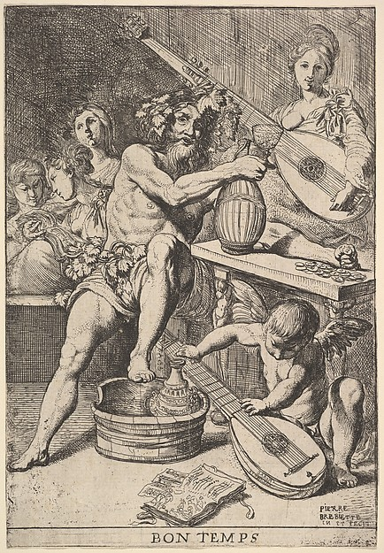 Fascinating Historical Picture of Pierre Brebiette with Bon Temps in 1610