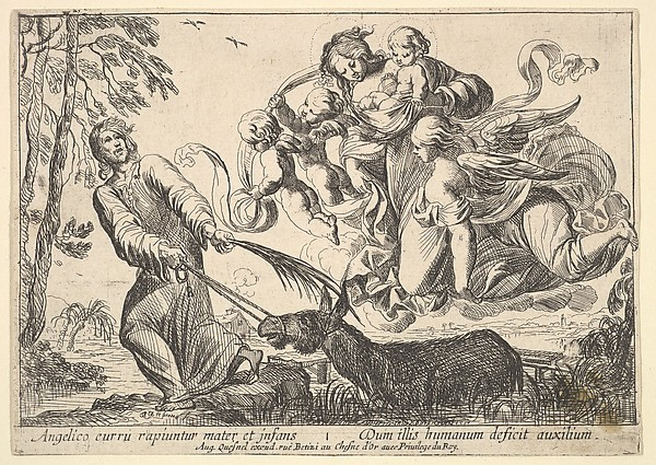 This is What Pierre Brebiette and Angels Lifting Virgin and Child Looked Like  in 1610