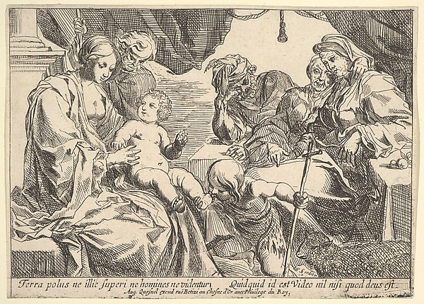 Fascinating Historical Picture of Pierre Brebiette with Holy Family with Saints in 1610