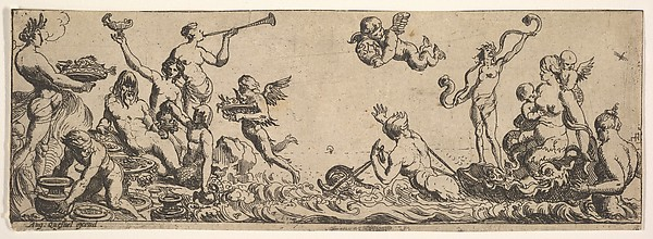 Fascinating Historical Picture of Pierre Brebiette with Neptune and Amphitrite in 1615