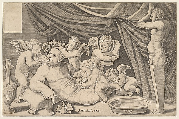 Bacchus Surrounded by Putti