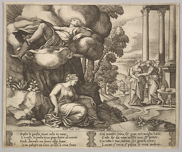 Zephyr Carrying off Psyche to an Enchanted Palace, from The Fable of Psyche