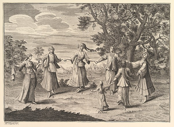 "A Native Dance (Aubry de La Mottraye's ""Travels throughout Europe, Asia and into Part of Africa...,""  London, 1724, vol. I, pl. 11)"