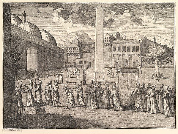Procession through the Hippodrome, Constantinople (Aubry de La Mottraye's
