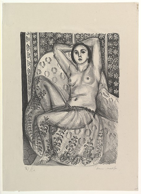 Seated Odalisque with a Tulle Skirt