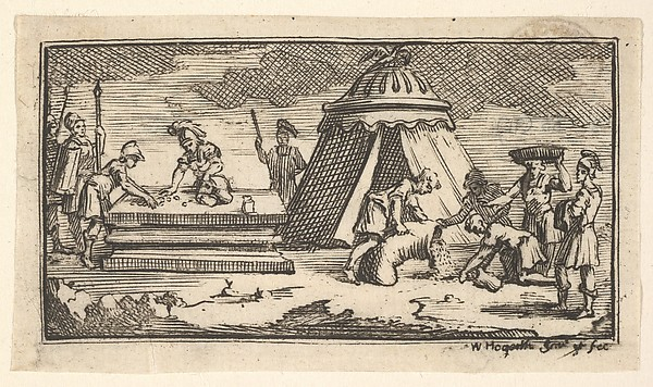 Issued Barley Instead of Wheat [first version] (John Beaver, Roman Military Punishments, 1725)