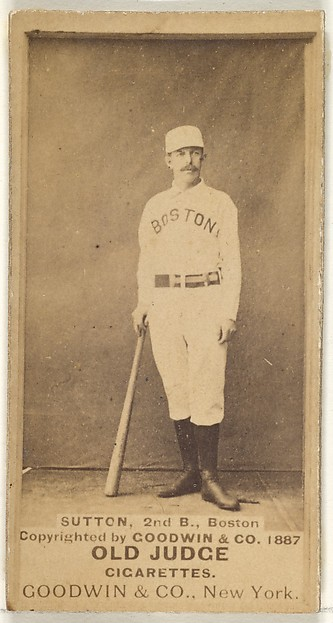 Sutton, 2nd Base, Boston, from the Old Judge series (N172) for Old Judge Cigarettes