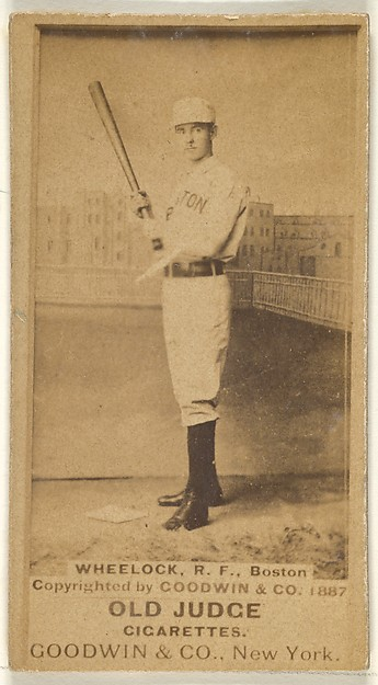 Wheelock, Right Field, Boston, from the Old Judge series (N172) for Old Judge Cigarettes