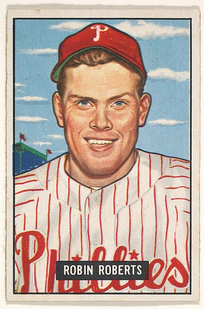 Robin Roberts, Pitcher, Philadelphia Phillies, from Picture Cards, series 5 (R406-5) issued by Bowman Gum
