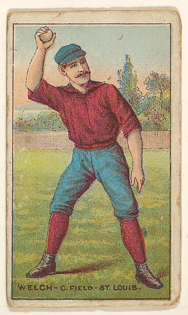 "Welch, Center Field, St. Louis, from the ""Gold Coin"" Tobacco Issue"